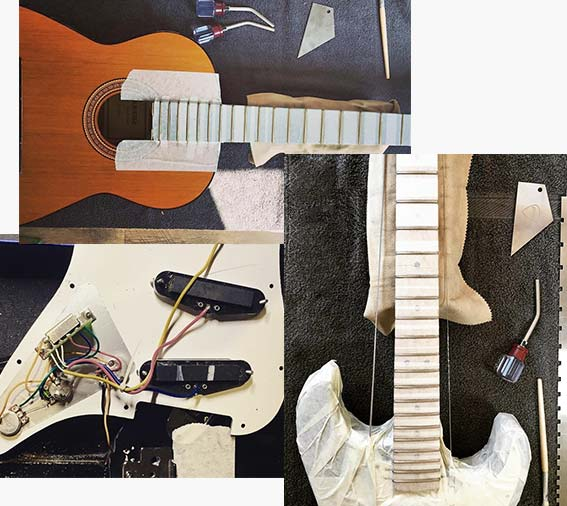 réparation réglage guitare valenciennes